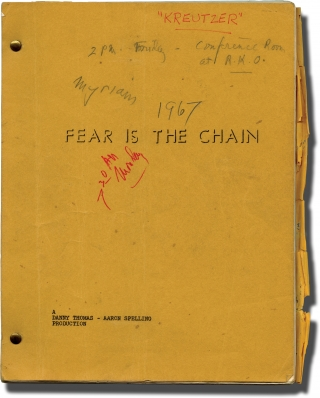 The Danny Thomas Hour: Fear is the Chain (Original teleplay script for the 1968 television episode, Van Heflin's working copy). Lamont Johnson, Eric Bercovici, Danny Thomas, Van Heflin, director, screenwriter, host, starring.