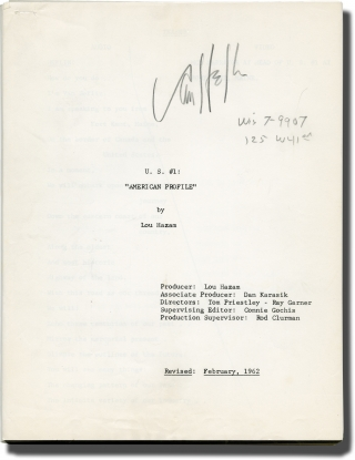 U.S. #1: American Profile (Original screenplay for the 1962 film). Lou Hazam, Van Heflin, Tom...