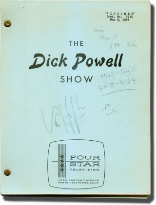 The Dick Powell Theatre: Ricochet [The Dick Powell Show: Ricochet] (Original teleplay script for...