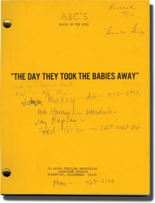 The Last Child [The Day They Took the Babies Away] (Original screenplay for the 1971 television...