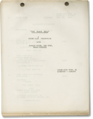 The Black Doll (Post-production script for the 1938 film). Otis Garrett, William Edward Haynes,...
