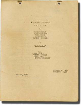Louisa (Post-production script and trailer for the 1950 film). Alexander Hall, Stanley Roberts,...