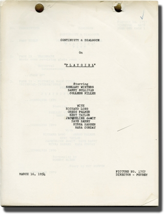 Playgirl (Post-production script for the 1954 film). Joseph Pevney, Robert Blees, Ray Buffum,...
