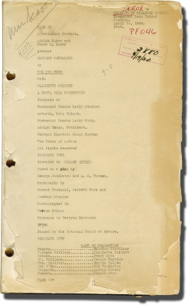 The Big Pond (Post-production script for the 1930 pre-Code film). Hobart Henley, Preston Sturges,...