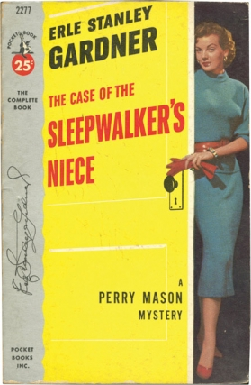 "The Case of the Sleepwalker's Niece (Vintage Paperback, inscribed by Gardner to ""Perry Mason""..."