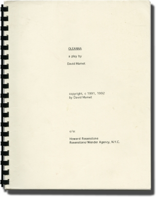 Oleanna (Original script for the 1992 play). David Mamet, Rebecca Pidgeon William H. Macy,...