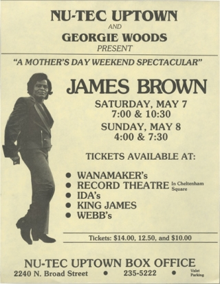 A Mother's Day Weekend Spectacular: James Brown, Saturday May 7th and Sunday May 8th, 1988...