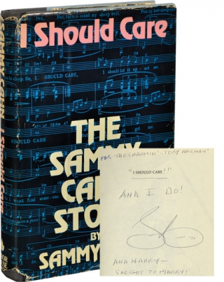 I Should Care [The Sammy Cahn Story] (Signed First Edition). Sammy Cahn
