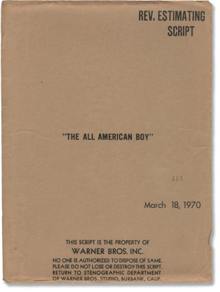 The All-American Boy [The All American Boy] (Original screenplay for the 1973 film). Charles...
