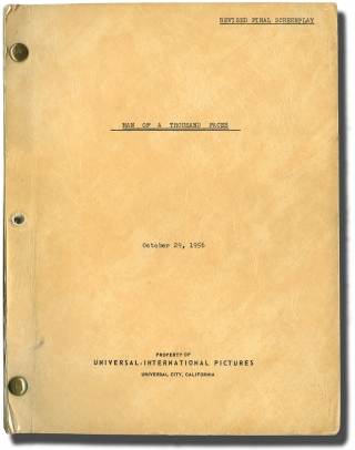 Man of a Thousand Faces (Original screenplay for the 1957 film, with illustrated program and...