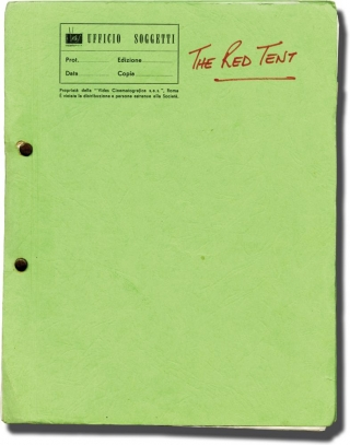 The Red Tent (Working script for the 1969 film, with original reference photograph). Mickail K....
