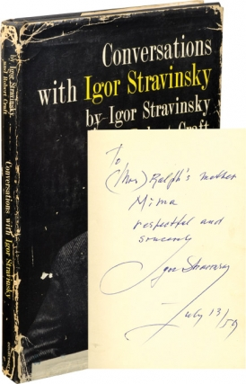 Conversations with Igor Stravinsky (Signed First Edition). Igor Stravinsky, Robert Craft