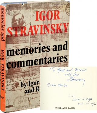 Memories and Commentaries (First UK Edition, signed by Stravinsky and Craft). Igor Stravinsky,...