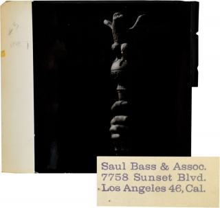 "Original photographic title card from ""Spartacus,"" designed by Saul Bass. Saul Bass."