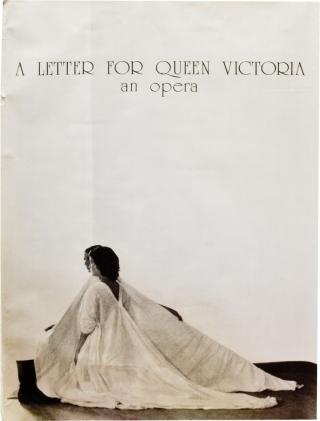 A Letter for Queen Victoria: An Opera (Original poster for the 1975 opera). Robert Wilson, director