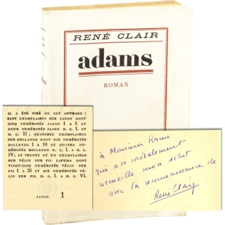 Adams [Star Turn] (First Edition, Large Paper Edition, Copy No. 1, inscribed). Rene Clair