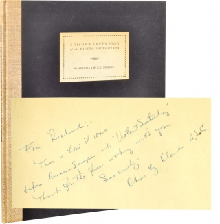 Edison's Invention of the Kineto-Phonograph (Limited Edition, inscribed to Richard Fleischer)....