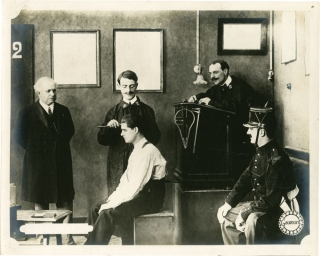 Fantomas (Original double weight still photograph from the 1913 film serial). Louis Feuillade,...