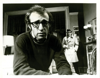 Play It Again, Sam (Original photograph from the 1969 Broadway stage play). Woody Allen, starring playwright, Joseph Hardy, director, Leo Stern, photographer, Diane Keaton, starring.
