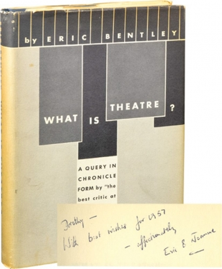 What is Theatre (Signed First Edition). Eric Bentley