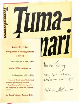 Tumatumari (First UK Edition, review copy, inscribed to novelist Andrew Salkey). Wilson Harris