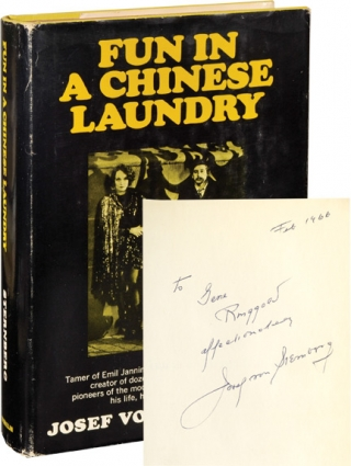 Fun in a Chinese Laundry (Signed First Edition, copy belonging to actor Gene Ringgold). Josef von...