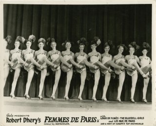 Femmes de Paris [Peek-a-boo] (Two original photographs from the 1954 film). Jean Loubignac, Henri...