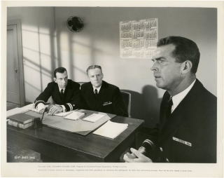 The Caine Mutiny (Collection of 3 photographs from the 1954 film). Edward Dmytryk, Herman Wouk,...
