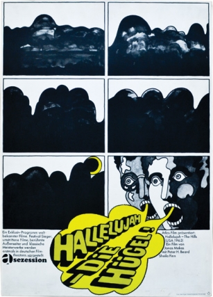 Hallelujah Die Hugel [Hallelujah the Hills] (Original German poster for the 1963 film). Adolfas...