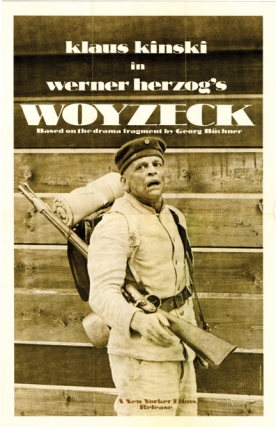 Woyzeck (Original poster for the 1979 film). Werner Herzog, George Buchner, Eva Mattes Klaus...