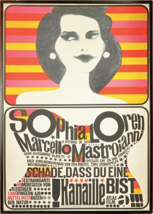 Schade, dass due eine kanaille bist [Too Bad She's Bad] (Original German poster for the 1955...
