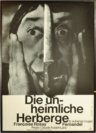Die unheimliche Herberge [L'auberge rouge] [The Red Inn] (Original poster for the 1951 film)....