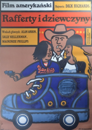 Rafferty i dziewczyny [Rafferty and the Gold Dust Twins] (Original Polish poster for the 1975...