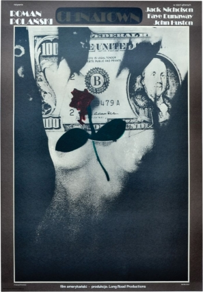 Chinatown (Original Polish poster for the 1974 film). Roman Polanski, Robert Towne, Faye Dunaway...