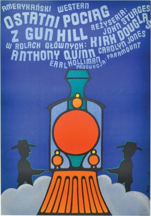 Last Train from Gun Hill [Ostatni pociag z Gun Hill] (Original Polish poster for the 1959 film)....