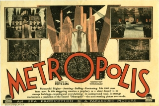 Metropolis (Original US herald for the 1927 film). Fritz Lang, Channing Pollock Thea von Harbou,...