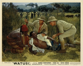 Watusi (Collection of 7 photographs from the 1959 film). Kurt Neumann, James Clavell, H. Rider...
