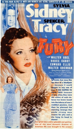 Fury (Original US herald for the 1936 film). Fritz Lang, Bartlett Cormack, Sylvia Sidney Spencer...