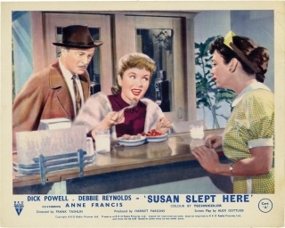Susan Slept Here (Original British front-of-house card from the 1954 film). Debbie Reynolds Anne...