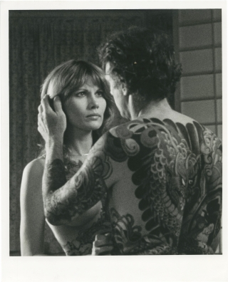 Tattoo (Original photograph from the 1981 film). Bob Brooks, Joyce Buñuel, Maud Adams...