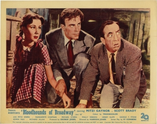 Bloodhounds of Broadway (Collection of 4 UK front-of-house card from the 1952 film). Harmon...
