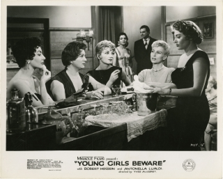 Young Girls Beware (Collection of 7 photographs from the 1957 film). Yves Allegret, James Hadley...