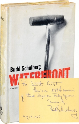 Waterfront (First Edition, inscribed to Judith Crist in 1955). Budd Schulberg