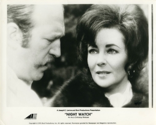 Night Watch (Two original photographs from the 1973 film). Brian G. Huttong, Lucille Fletcher,...