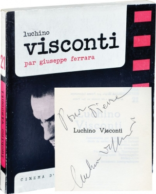 Luchino Visconti (Softcover, inscribed by Visconti). Giuseppe Ferrara