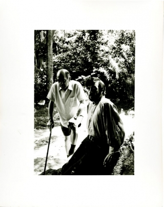 "Luis Buñuel and Jean-Claude Carriere on the set of ""The Discreet Charm of the Bourgeoisie"" Luis..."