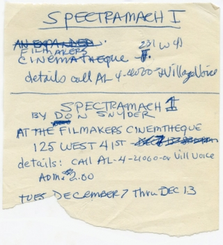 Spectro-Mach 1 production archive. Don Snyder, Angus MacLise John Cale, others, Ralph Metzner,...