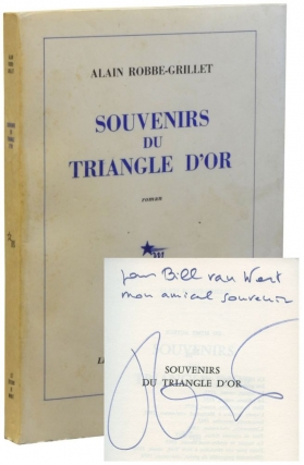 Souvenirs du Triangle d'Or (First Edition, inscribed to William Van Wert). Alain Robbe-Grillet