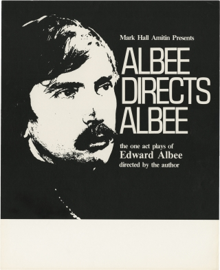Albee Directs Albee (Original poster for The One Act Plays of Edward Albee | Directed by the...