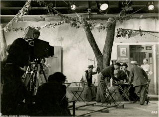 "Marcel Pagnol on the set of ""Le femme du boulanger"" [The Baker's Wife]"